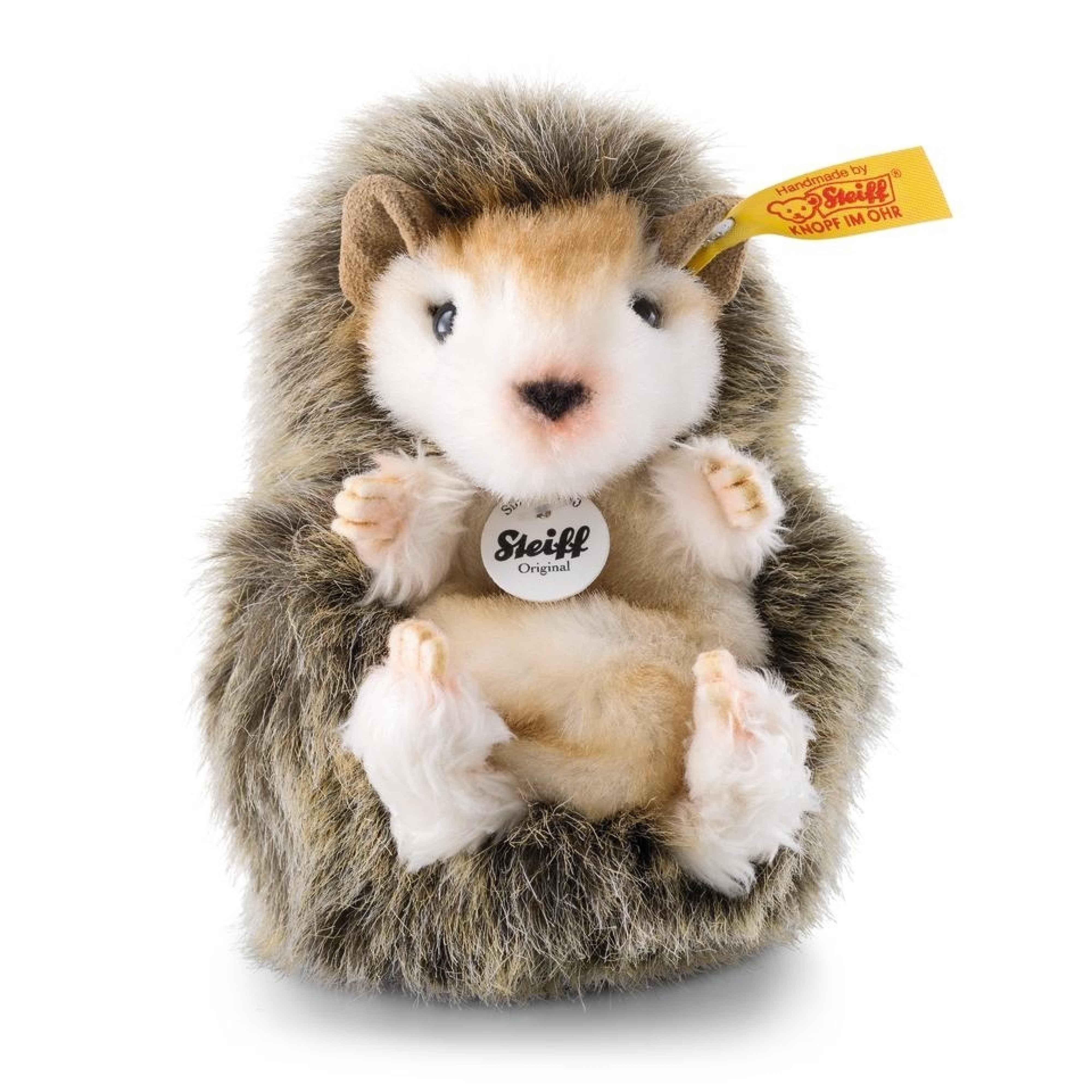 Steiff 070587 Joggi Baby-Igel 10cm braun meliert sitzend Plüschtier Stofftier